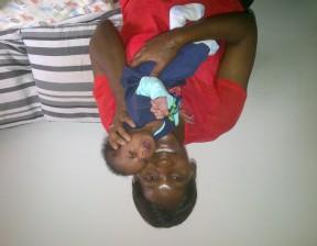 Denise & baby CU