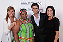 Robin Smalley, m2m Co-founder (left), John Stamos, Debbie Bickerstaff, m2m Board Member