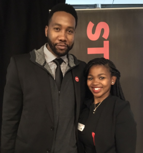 Sanelisiwe and Ndaba Mandela, the grandson of Nelson Mandela